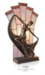 Handgefertigte Tiffany Dekoleuchte Figurenleuchte von Casa Padrino Höhe 48 cm, Länge 27 cm - Leuchte Lampe - Statuette