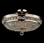 Casa Padrino Barock Kristall Decken Kronleuchter Gold 43, 5 x H 26 cm Antik Stil - Möbel Lüster Leuchter Deckenleuchte Deckenlampe