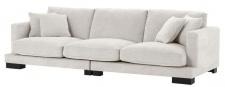 Casa Padrino Luxus Wohnzimmer Sofa Sandfarben / Schwarz 284 x 110 x H. 85 cm - Luxus Kollektion