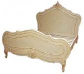 Barock Bett Maison Paris Antik Creme 180 x 200 cm aus der Luxus Kollektion von Casa Padrino
