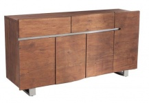 Casa Padrino Luxus Sideboard Natur / Braun B.170 x H.92 x T.45 - Fernsehschrank - Kommode - Handgefertigt aus massivem Akazienholz!