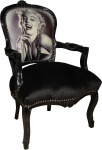 Casa Padrino Barock Salon Stuhl Marilyn Monroe Mod1 - Limited Edition