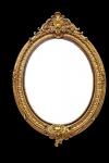 Casa Padrino Barock Wandspiegel Gold Oval B 102 x H 150 cm - Edel & Prunkvoll