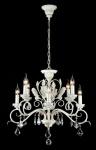 Casa Padrino Barock Decken Kristall Kronleuchter Weiß Gold 70 x H 59 cm Antik Stil - Möbel Lüster Leuchter Hängeleuchte Hängelampe