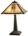 Casa Padrino Tiffany Tischlampe / Tischleuchte Mehrfarbig 38 x 38 x H. 59 cm - Luxus Deko