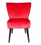 Casa Padrino Esszimmer Stuhl Rot / Schwarz ohne Armlehnen - Barock Möbel