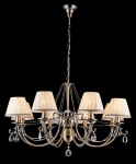 Casa Padrino Barock Kristall Decken Kronleuchter Bronze 85 x H 53 cm Antik Stil - Möbel Lüster Leuchter Hängeleuchte Hängelampe