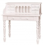 Casa Padrino Landhausstil Schreibtisch Weiß 109 x 60 x H. 110 cm - Möbel im Landhausstil