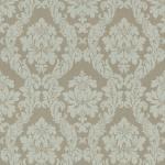 Casa Padrino Barock Textiltapete Beige / Creme / Grau / Silber - 10, 05 x 0, 53 m - Stofftapete im Barockstil