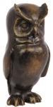 Casa Padrino Luxus Bronzefigur Eule Bronze 7, 9 x 7, 8 x H. 16, 6 cm - Bronze Skulptur