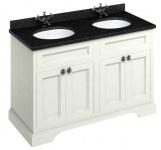 Casa Padrino Doppel Waschschrank / Waschtisch mit Granitplatte und 4 Türen - Hotel Möbel
