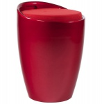 Casa Padrino Designer Hocker Rot mit Sitzpolster und Stauraum unter dem Sitz