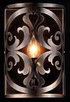 Casa Padrino Barock Wandleuchte Braun 18 x H 27 cm Antik Stil - Wandlampe Wand Beleuchtung