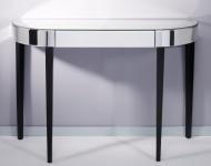 Casa Padrino Luxus Spiegelglas Konsole mit Schublade 112 x 35 x H. 75 cm - Luxus Möbel & Accessoires