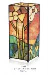 Casa Padrino Tiffany Tischleuchte Breite 11cm, Höhe 27cm Mosaik Leuchte Lampe Hockerleuchte