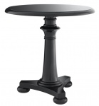 Casa Padrino Luxus Tisch / Beistelltisch Schwarz 75 x H. 75 cm - Hotel Kollektion