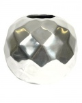 Designer Shine Vase aus poliertem Aluminium Durchmesser 20 cm - Moderne Vase - Deko Vase
