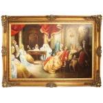 Riesiges Handgemaltes Barock Öl Gemälde Literaturabend Mod.2 Gold Prunk Rahmen 225 x 165 x 10 cm - Massives Material