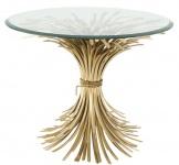 Casa Padrino Luxus Beistelltisch Antik Gold Ø 90 x H. 70 cm - Runder Designer Beistelltisch mit abgeschrägter Tischplatte