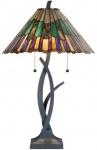 Casa Padrino Luxus Tiffany Tischleuchte / Hockerleuchte Mehrfarbig Ø 50 x H. 80 cm - Luxus Lampe aus zahlreichen Glas Mosaik Stücken