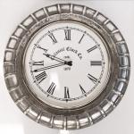 Casa Padrino Vintage Wanduhr Aluminium - Designer Wand Uhr