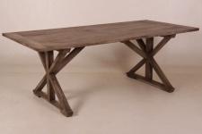 Casa Padrino Vintage Teak Esstisch Rustic Grey 210 x 100 cm - Landhaus Stil Tisch Teakholz