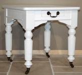 Casa Padrino Shabby Chic Beistelltisch Weiß 60 x 60 cm - Landhaus Stil Tisch