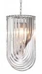 Casa Padrino Art Deco Murano Haengeleuchte 35cm x H65 cm- Möbel Lüster Leuchter Hängeleuchte Hängelampe