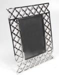 Casa Padrino Designer Messing Bilderrahmen Silber 22 x 5 x H. 27, 5 cm - Luxus Deko Accessoires