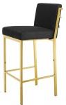 Casa Padrino Designer Hochstuhl / Barstuhl / Barhocker Gold 43 x 54 x H. 101 cm - Luxus Qualität