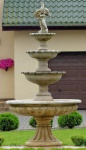 Casa Padrino Barock Gartenbrunnen / Springbrunnen Ø 150 x H. 300 cm - Prunkvoller Brunnen im Barockstil