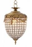 Casa Padrino Luxus Kronleuchter - Luxus Hängeleuchte Messing Durchmesser 29 x H 58 cm