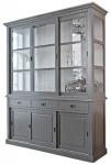 Casa Padrino Landhausstil Schrank Antik Grau / Weiß 180 x 50 x H. 220 cm - Landhausstil Möbel