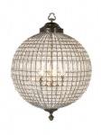 Casa Padrino Luxus Kronleuchter - Luxus Hängeleuchte Antik Messing Durchmesser 61 x H 85 cm