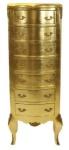 Casa Padrino Barock Kommode Gold mit 7 Schubladen 120 x 70 x 35 cm - Antik Stil