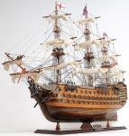 Casa Padrino Luxus Flaggschiff HMS Victory Braun / Mehrfarbig 97 x 29 x H. 83 cm - Handgefertigtes Britisches Deko Holzschiff