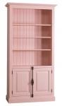 Casa Padrino Landhausstil Bücherschrank Rosa 109 x 40 x H. 210 cm - Landhausstil Wohnzimmerschrank