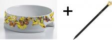 Harald Glööckler Porzellan Hundenapf Rococo + Luxus Bleistift von Casa Padrino im Kronendesign - Barock Dekoration