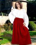 Eleanor Cotton Skirt red - Medieval Skirt Pirate