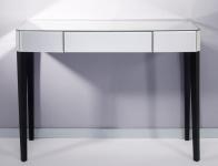 Casa Padrino Luxus Spiegelglas Konsole Weiß 100 x 33 x H. 76 cm - Luxus Möbel & Accessoires