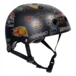 SFR Skateboard / Scooter / Inliner / BMX / Rollschuh Schutz Helm - Black Sticker - Skateboard Schutzausrüstung