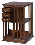 Casa Padrino Luxus Mahagoni Bücherschrank Braun 49 x 49 x H. 80 cm - Luxus Kollektion