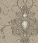 Harald Glööckler Designer Barock Vliestapete 58559 - Ornamente mit Strasssteinen - Gold / Kupfer