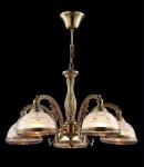 Casa Padrino Barock Decken Kronleuchter Kupfer 57 x H 31 cm Antik Stil - Möbel Lüster Leuchter Hängeleuchte Hängelampe