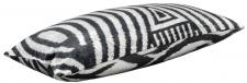 Casa Padrino Luxus Kissen Mod2 Schwarz / Weiß 60 x 40 cm - Wohnzimmer Deko Accessoires