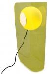 Casa Padrino Luxus Designer Tischleuchte Gelb 28, 5 x 17 x H. 59 cm - Moderne Plexiglas Leuchte