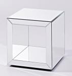 Casa Padrino Luxus Spiegelglas Beistelltisch im Würfel Design 46 x 46 x H. 48 cm - Designer Wohnzimmermöbel