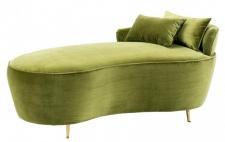 Casa Padrino Luxus Belle Epoche Sofa / Recamiere Grün - Jugendstil Art Deco - Luxury Collection