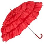 MySchirm Designer Automatikschirm eleganter Schirm für viele Gelegenheiten in rot - romantischer Dekoschirm