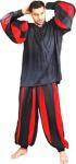 European Medieval Piraten Shirt - Black - Red